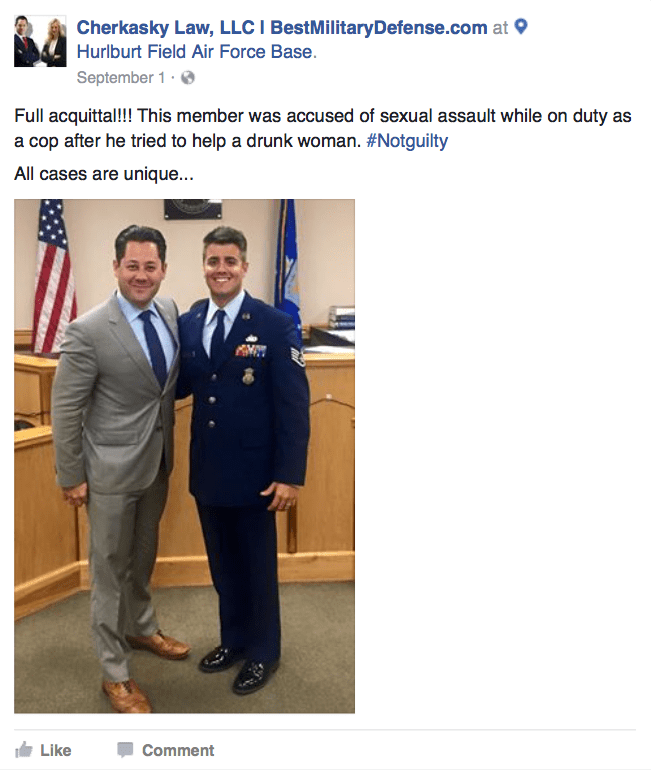 Sexual Assault victory at Hurlburt Field